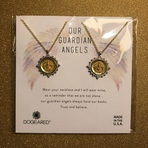 """Dogeared """"Our Guardian Angels Set of 2 Necklaces"""""""
